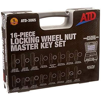 ATD Tools 3065 16-Piece Locking Wheel Nut Master Key Set: Automotive