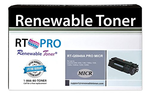 RT 49A Q5949A PRO MICR Toner Cartridge for Check Printing on LaserJet 1160 - 1320 - 3390 - 3392 series printers