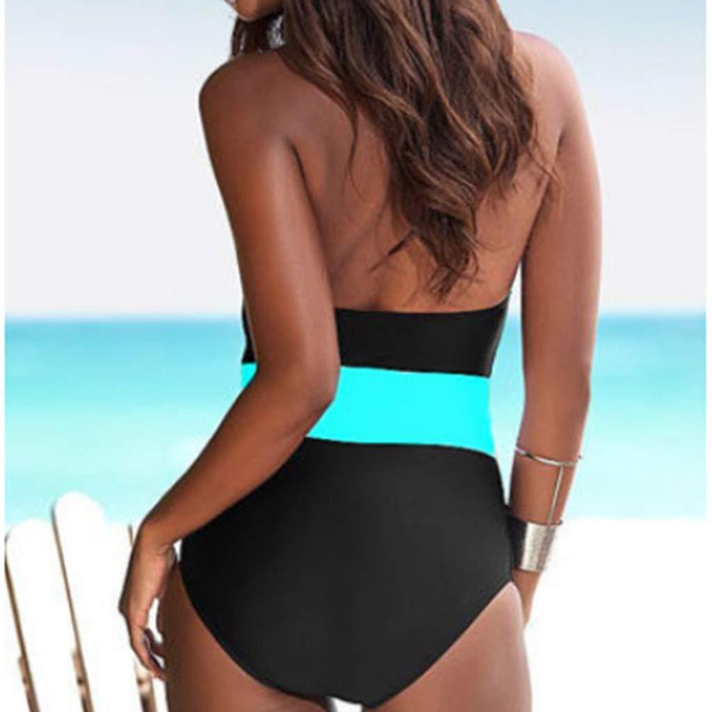 Lavany Womens Halter 1 Piece Monokini Swimsuit High Waisted Push-up Bathing Suit