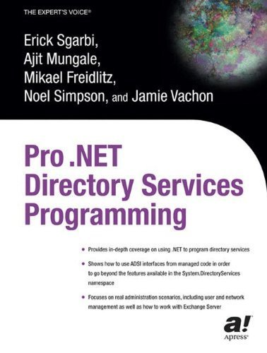 Pro .NET Directory Services Programming by Erick Sgarbi (2003-10-30)