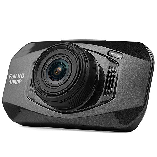 C23 Dash Cam 2.7 Inch LCD FHD 1080p 170° Pro Car Dashboard Camera with G-Sensor, WDR, Night Vision, 8GB MicroSD Card Included