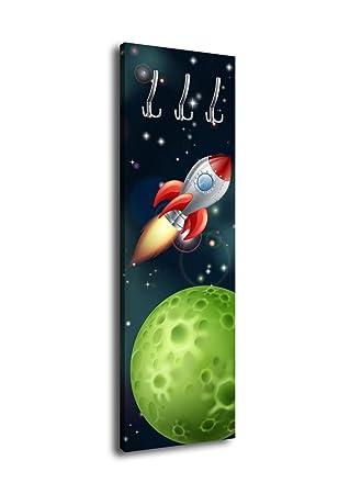 wandmotiv24 Perchero con diseño Cohete en el Mundo All G324 ...