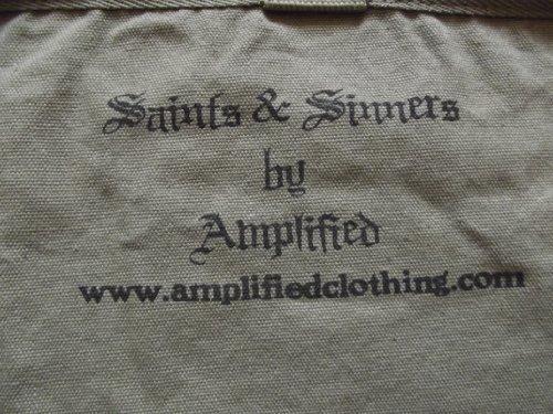 DESIGN SAINTS BAG AMPLIFIED UNISEX SKULL NEW KHAKI amp; SINNERS CANVAS vwaYnAqE