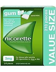Nicorette Gum, Nicotine 2 Mg, Spearmint Flavour, Quit Smoking Aid And Smoking Cessation Aid, 210 Count