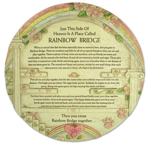 (BANBERRY DESIGNS Pet Memorial Rainbow Bridge Garden Urn Stone Look)