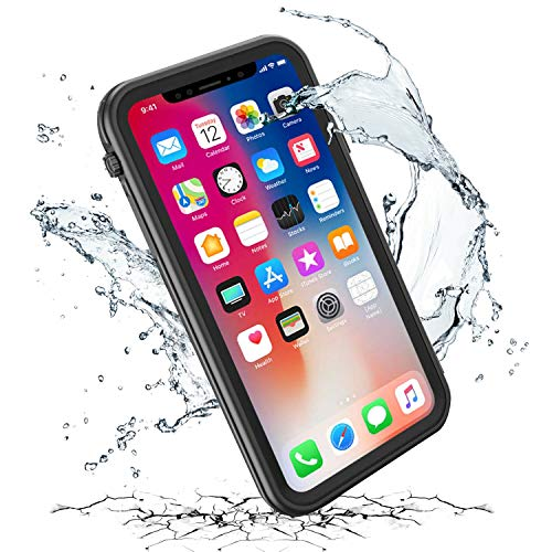 iThrough iPhone XR Waterproof Case with Kickstand, Upgraded Shockproof Dropproof Dirt Rain Snow Proof Case with Built in Screen Protector, Heavy Duty Underwater Case Cover for iPhone XR/6.1