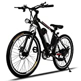 Kaluo 250W Electric Mountain Bicycle with Full Suspension, Removable 36V Li Battery, 2 Working Mode, 26'' Wheel Aluminum Alloy Bike (US Stock)