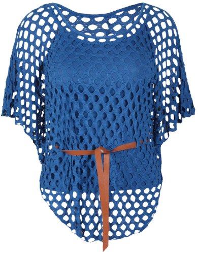 Empi Top Ceinture Souris Purple Manche Femme Hanger Crochet Chauve Encolure PzzqagR