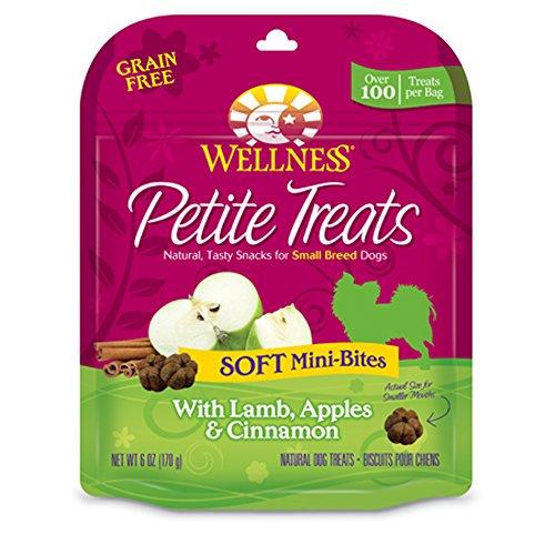 Wellness Petite Treats Small Breed Soft Natural Grain Free Dog Treats, Lamb & Apples, 6-Ounce Bag (Cinnamon Treats Dog Apple)