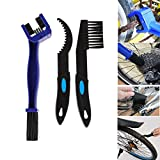 1 Pcs Motorcycle Bike Chain Gears Cleaning Brushes with 2 Chain Gear Cleaner, Multi-Purpose Maintenance Cleaner Tools Sets for Road Mountain Cycling Bicycle