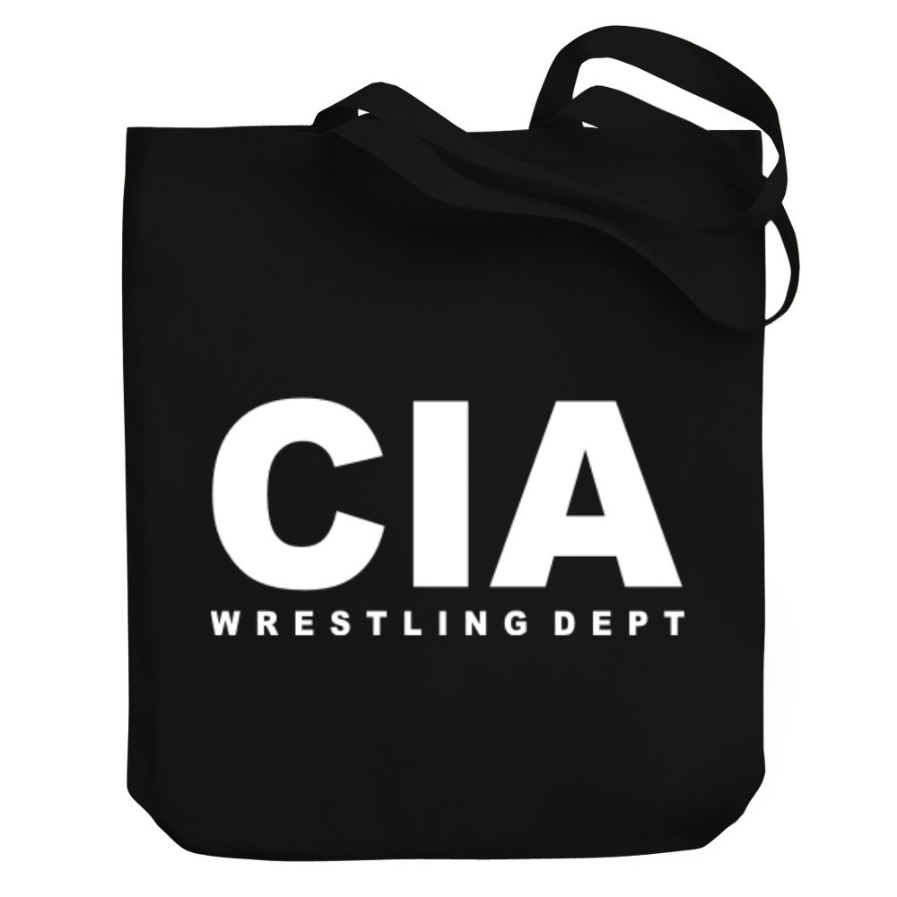 Teeburon CIA Wrestling DEPT Canvas Tote Bag