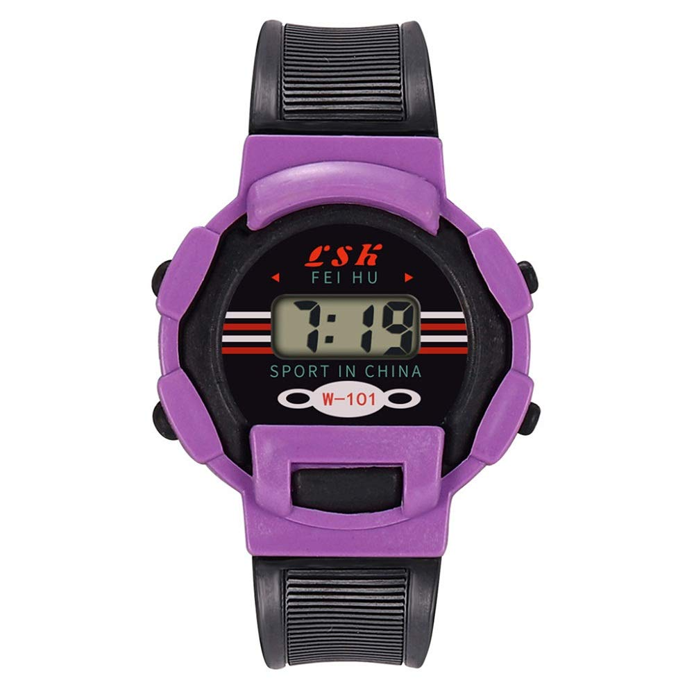 AGUIguo Watches for Kids Children Girls Analog Digital Sport LED Electronic Waterproof Wrist Watch New Kid's Birthday Gift (Purple)