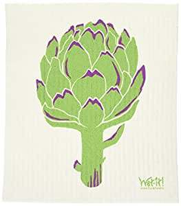 Swedish Treasures Wet-it! Cleaning Cloth, Artichoke, Super Absorbent, Reusable, Biodegradable, All-purpose