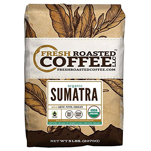 FTO Sumatra Coffee, Whole Bean, Fresh Roasted Coffee LLC (5 Lb.) (Fresh Roasted Coffee Llc Organic)