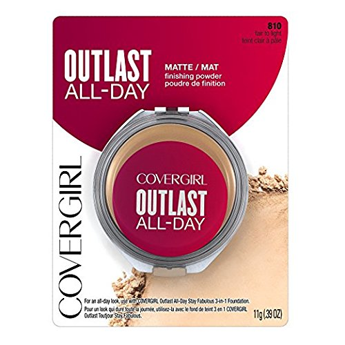 CoverGirl Outlast All-Day Matte Finishing Powder, 810 Fair to Light (Pack of 2)