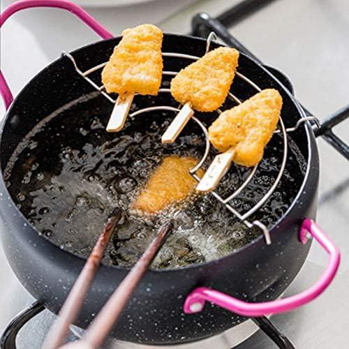 WWY Hogar Cocina Cocina freidora Mini freidora Cocina de inducción de Gas General Ahorro de Aceite, Redondo