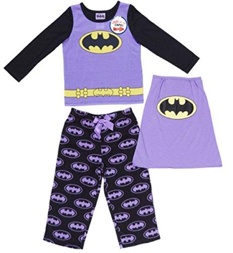 KOMAR KIDS GIRLS CHARACTER PAJAMA SET (6, Bat Girl 2-Pc with (Batman Costumes Pajamas)