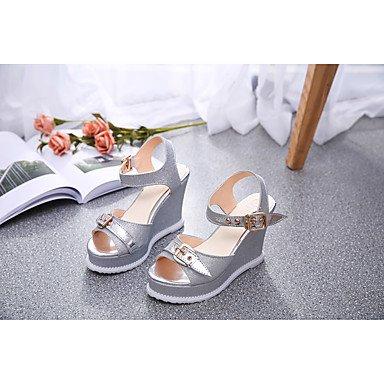 CN37 FYios Wedding del Zapatos Club Las Plataforma Glitter 7 US6 UK4 Party hebilla Sequin mujeres de amp;Amp; talones Verano 5 5 EU37 Vestido 5 Noche Casual Primavera zw0Fqzxrt