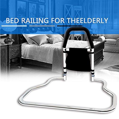 medokare bed rails for elderly hospital grade safety bed rail for adults seniors bed side. Black Bedroom Furniture Sets. Home Design Ideas