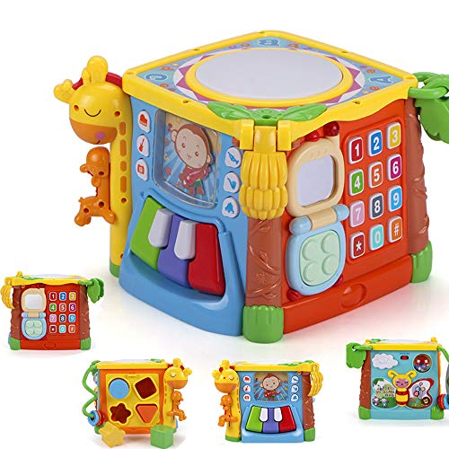 MzekiR 5 in 1 Music Drum Activity Cube Toy ()