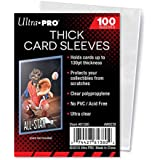 Ultra Pro Extra Thick Card Sleeves for Thick Jersey or Memorabilia Sports Trading Cards by Topps