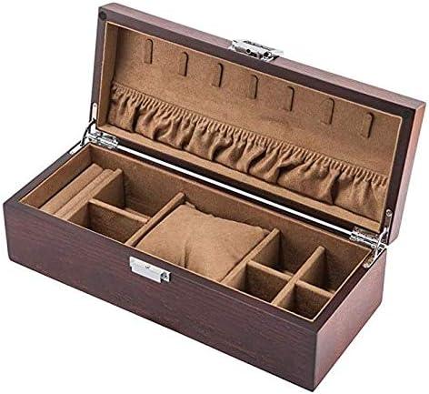 INTER FAST Caja de Madera para Joyas, Relojes, Pulseras, Joyas, colección de Almacenamiento: Amazon.es: Hogar