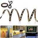 LEDMO Flexible USB Led Strip TV Bias Backlight, Accent LED Tape Light Strips for HDTV,3.28FT Warm White USB LED Lighting Strip for Flat Screen TV LCD, Desktop Monitors, Kitchen Cabinets