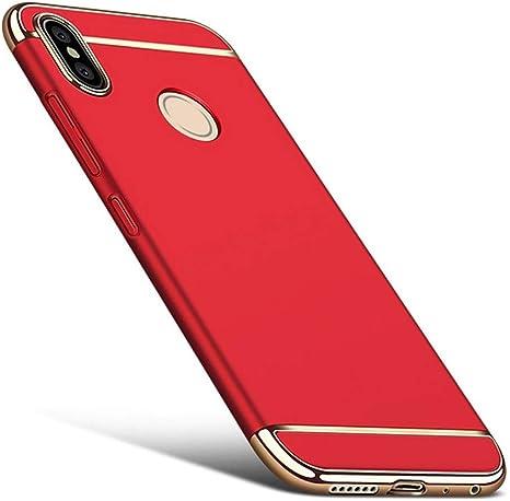 DESCHE para Funda Xiaomi Redmi Note 5/Pro Funda Mate a Prueba de Golpes y arañazos+Vidrio Templado, Protección 360° Funda Compatible Xiaomi Redmi Note 5/Pro Rojo: Amazon.es: Electrónica