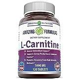 Amazing Formulas L Carnitine Fumarate Supplement 1000 mg 120 Pills