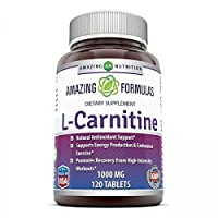 Amazing Formulas L Carnitine Fumarate Supplement 1000 mg 120 Pills