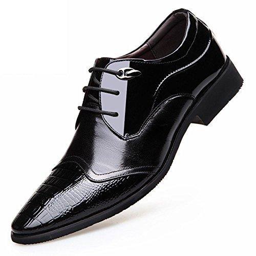 LEDLFIE Herren Lederschuhe Business Anzüge Herrenschuhe Black