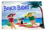 Beach Babes Large Yard Flag From Art