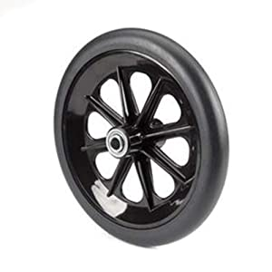 """The Aftermarket Group Wheelchair Caster Assembly, 8-Spoke Rim, Black, 8"""" x 1"""", TAG265028"""