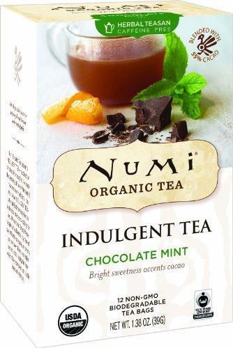 Numi Organic Indulgent Tea Chocolate Mint, 12 count non-GMO Tea Bags, 3 Count - Good Earth Mint Tea