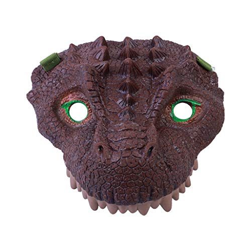 Gbell  Dinosaur Masks for Kids,Novelty Party Favors Cosplay Dinosaur Face Head Mask Dinosaur Latex Mask Overhead Latex Costume Prop Scary Mask Toy for Halloween Christmas Easter (C) ()