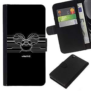 JackGot ( Deadmaus Sign ) HTC DESIRE 816 la tarjeta de Crédito Slots PU Funda de cuero Monedero caso cubierta de piel