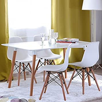 804 Tes Table Eames X Chaises Change Muebles Blanc 120 2DYHEIW9