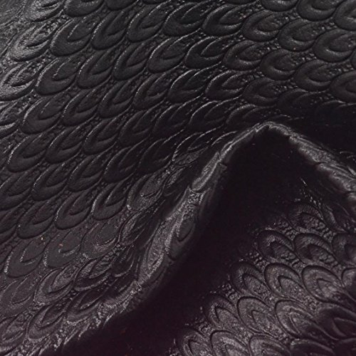The Leather Guy - Black Swan Embossed Leather Cow Hide 8