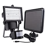 60 LED Solar Motion Light WSMY Adjustable TIME & LUX Lamp Solar activated for Hallway Corridor Villa Yard Garage Outdoor Indoor Wall Patio Garden Landscape Deck Shed Lawn offers