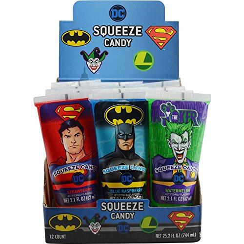 Kokos DC Comics Squeeze Candy, 2.1 fl oz (62 ml), (Pack of 12)