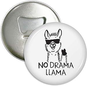 No Drama Llama Refrigerator Magnets Beer Bottle Opener Coke Bottle Wine Soda Openers Kitchen Magnet for Home Decor Pocket Size