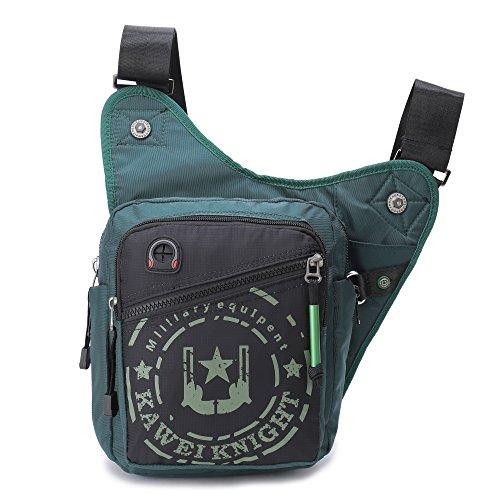 Crossbody Bag, Messenger Bag Men Women, Shoulder Bag Men Women, Satchel Bag (Dark Green)