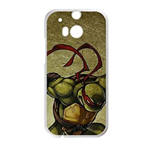 Happy Muscular Ninja turtle Cell Phone Case for HTC One M8