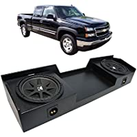Fits 1999-2006 Chevy Silverado Ext Truck Kicker Comp C10 Dual 10 Rhino Coated Sub Box - Final 2 Ohm