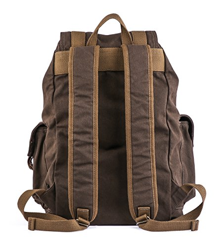 Gootium 21101CF Specially High Density Thick Canvas Backpack Rucksack,Coffee by Gootium (Image #4)