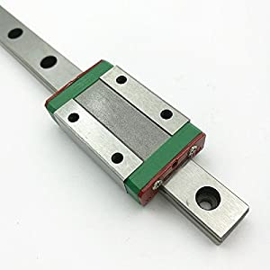 TEN-HIGH linear rail, CNC Parts MR MGN7/MGN9/MGN12/MGN15/MGW7/MGW9/MGW12/MGW15 Miniature Linear Guide Rail Way Slide+MGNH Slider by TEN-HIGH