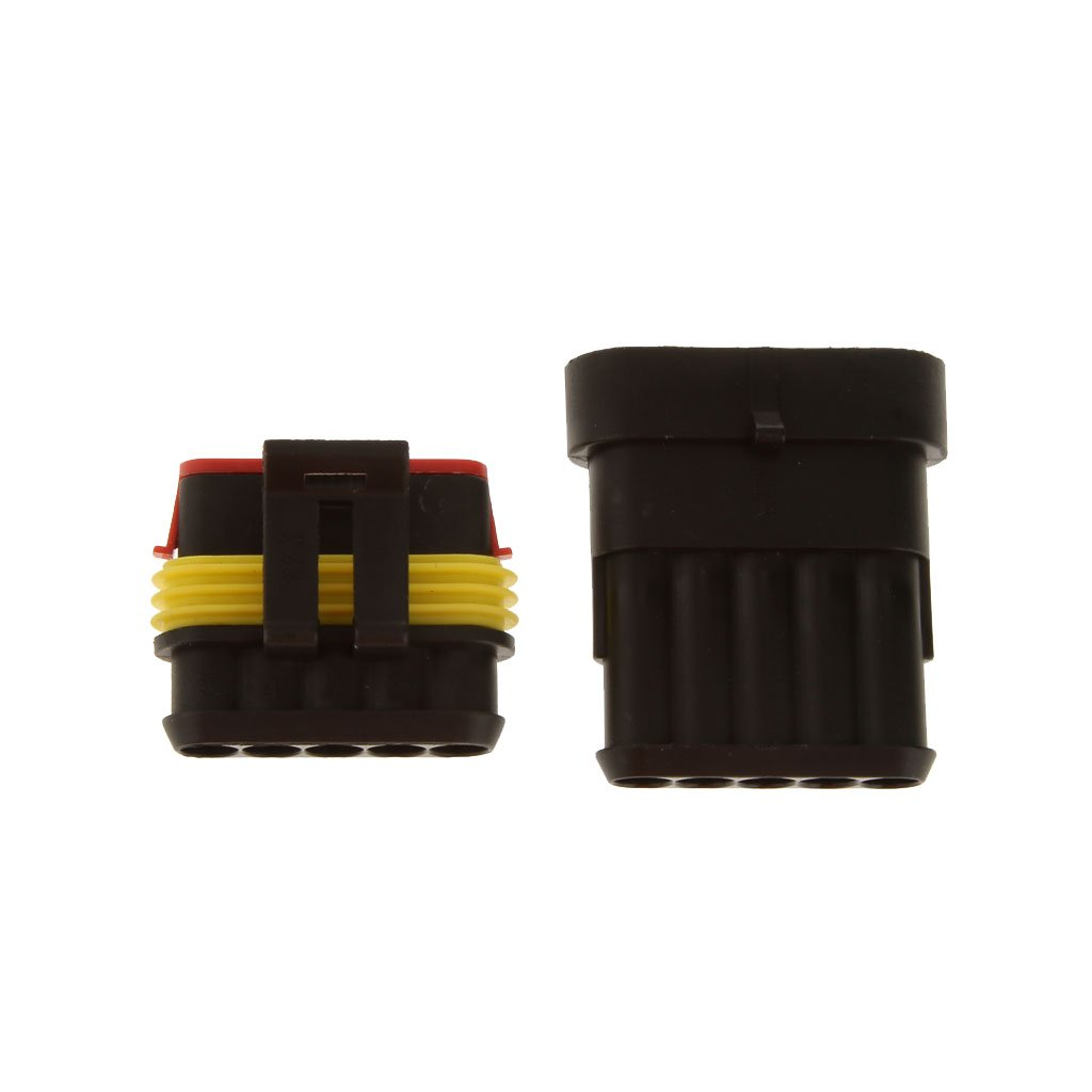 5 Sello Conector Terminal Sistemas Eléctricos Impermeable 1,5 MM 5 Pin para Automóvil Coche Generic STK0151002551