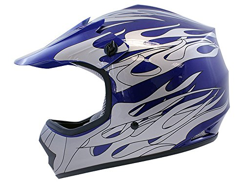 Motorcycle Helmet With Flames - 1