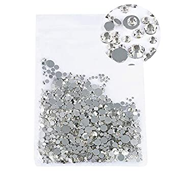 Amazon.com  Mix Sizes 1000PCS Pack Crystal Clear AB Non Hotfix Flatback  Rhinestones Nail Rhinestones For Nails 3D Nail Art Decorations Gems clear  crystal  ... 1153a3f20717