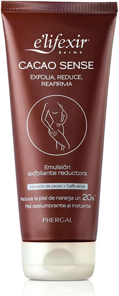 Elifexir Cacao Sense - Exfoliante Corporal, Reductor y Reafirmante 200 ml.